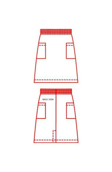 Women's A-Line Patch Pocket Scrub Skirt, , large