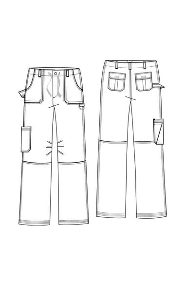 Men's James Zipper Fly Scrub Pants, , large