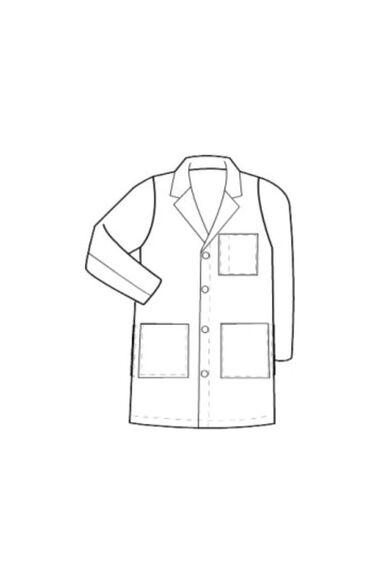 """Unisex 40"""" Full Length Lab Coat, , large"""