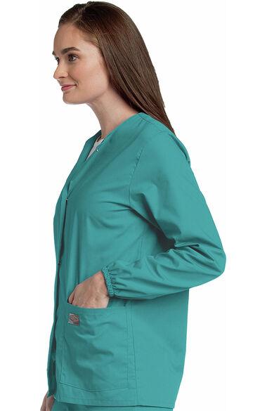 Women's Warm Up Solid Scrub Jacket, , large