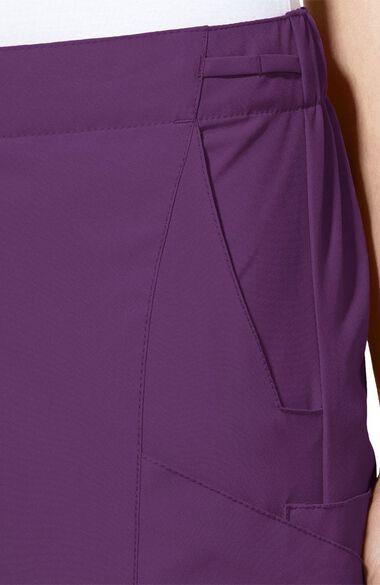 Women's Elastic Waistband Cargo Scrub Pant, , large