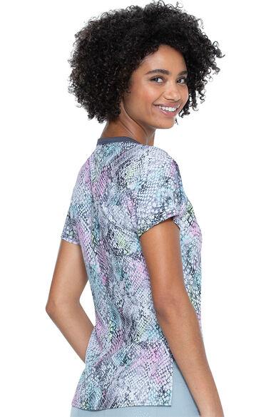 Women's Sweet Hisses Print Scrub Top, , large
