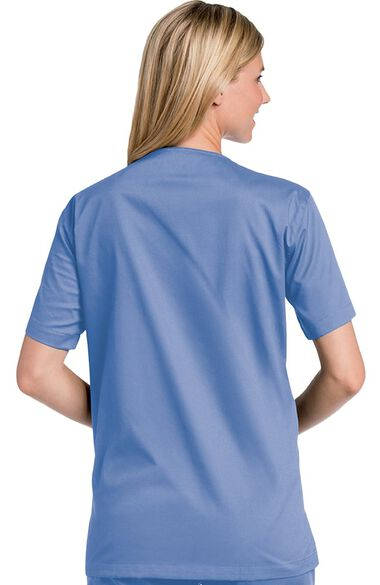 Clearance Unisex V-Neck Solid Scrub Top, , large