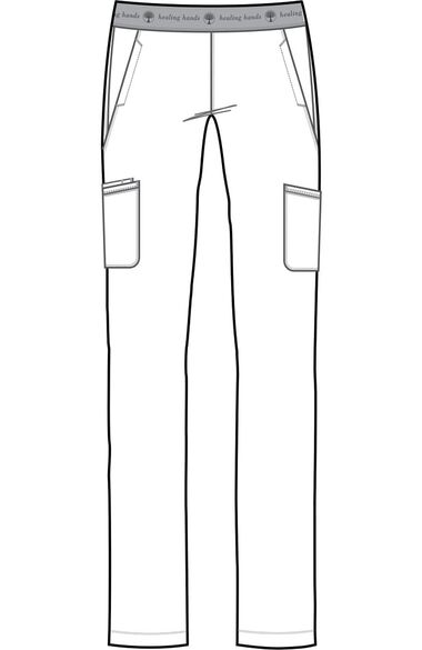 Women's Rachel Elastic Waistband Cargo Scrub Pant, , large