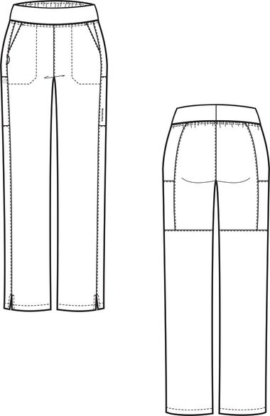 Women's Knit Waist Cargo Scrub Pant, , large