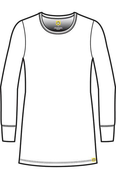 Clearance Women's Silky Long Sleeve Stripe Print Underscrub T-Shirt, , large