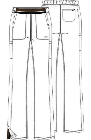 Clearance Women's Stripe Waistband Flare Leg Scrub Pant, , large
