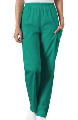 Women's Scrubs Elastic Waist Utility Scrub Pants