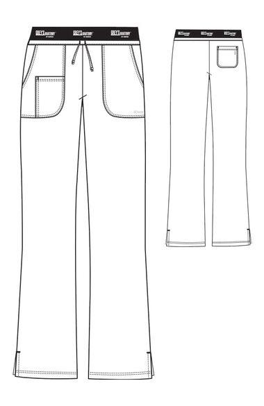 Grey's Anatomy Classic Women's Logo Elastic Drawstring Waist Scrub Pant, , large