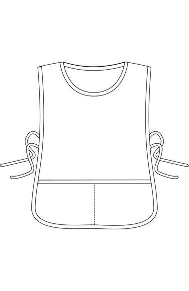 Unisex Full Front and Back Bib Apron, , large