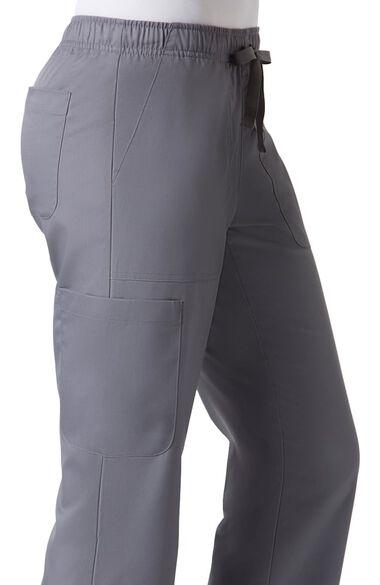 Clearance Women's COOLMAX Elastic Drawstring Waist Cargo Scrub Pant, , large