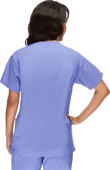 Women's V-Neck 3 Pocket Solid Scrub Top, , large