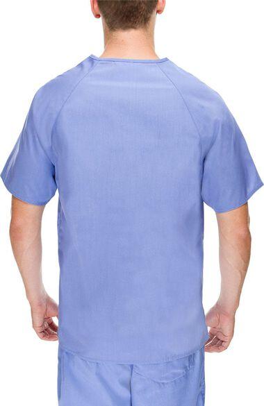 Men's V-Neck Solid Scrub Top, , large