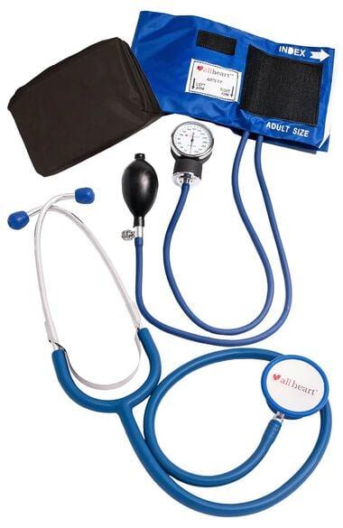 Blood Pressure Aneroid and Dual Head Stethoscope Combination Set - Nurse Kit Nurse Combo Kit, , large