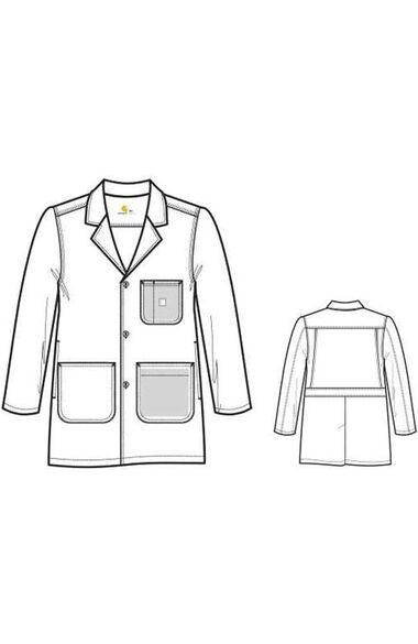 "Clearance Men's 36"" Lab Coat, , large"