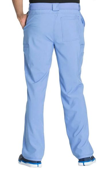 Men's V-Neck Solid Scrub Top & Zip Fly Cargo Scrub Pant Set, , large
