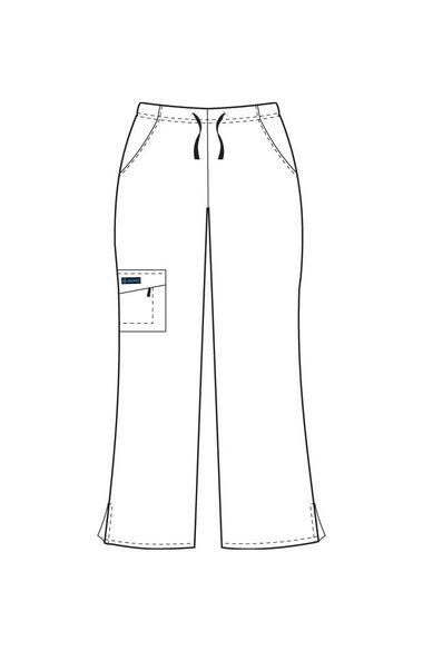 Women's Tri Blend Zipper Scrub Pants, , large