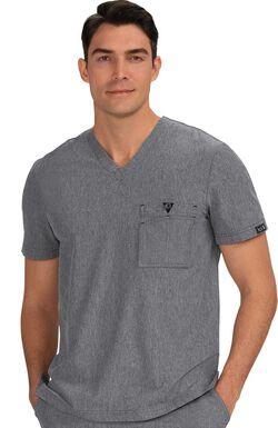 Men's Bryan V-Neck Chest Pocket Solid Scrub Top