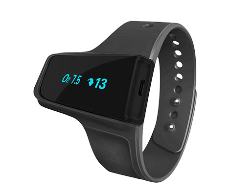 Black BodiMetrics Sleep and Fitness Monitor