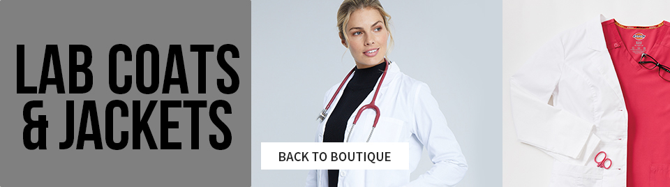 viewing dickies lab coats. click to go back to boutique.