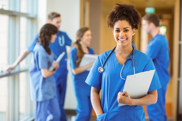 smiling nurse starting career path