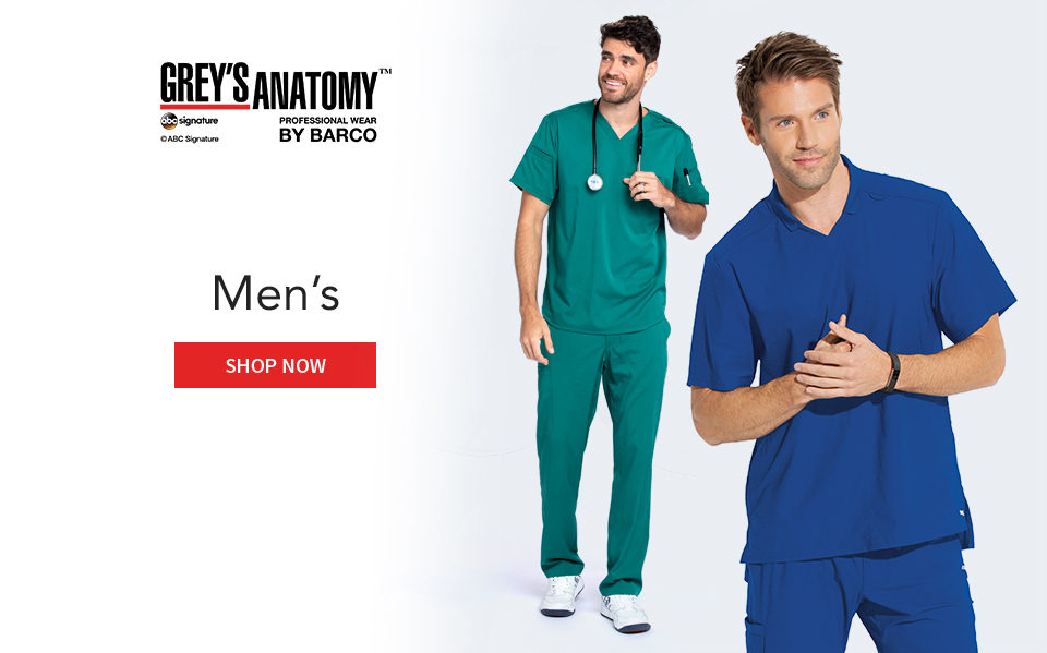 click to shop grey's anatomy men's products.