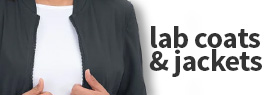 View value priced scrub jackets and lab coats