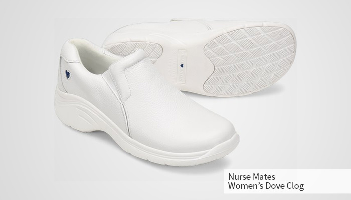 nurse mates dove clog for women