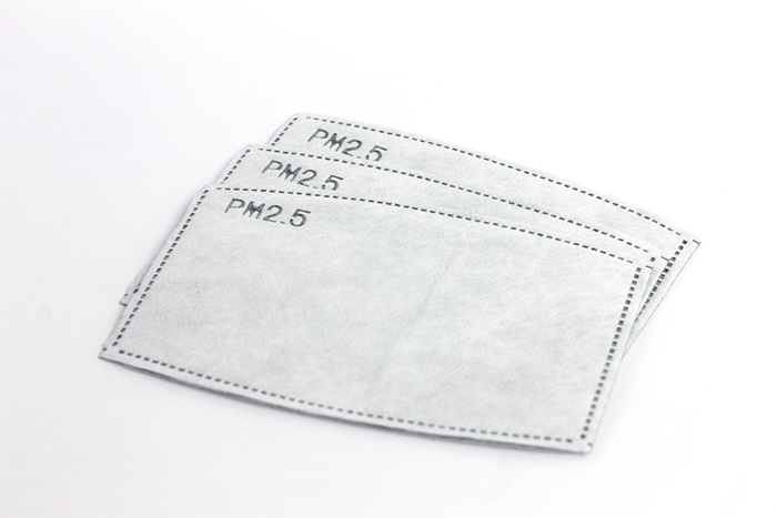 face mask filters with white background