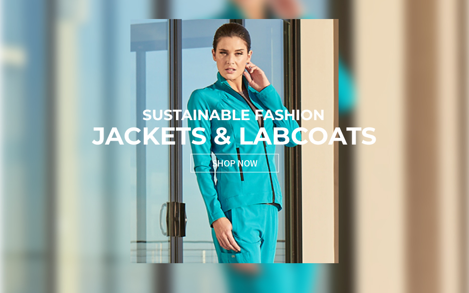 click to shop barco one jackets & lab coats.