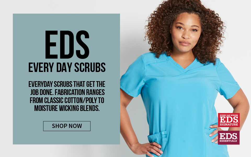 click to shop eds by dickies. everyday scrubs that get the job done.