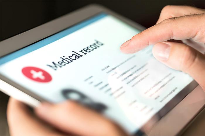 digital medical record of patient data