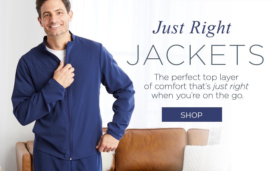 click to shop jockey jackets.