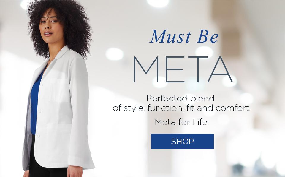 click to shop jockey meta lab coats.