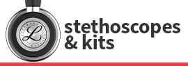 Click here to shop our selection of pediatric stethoscopes & kits