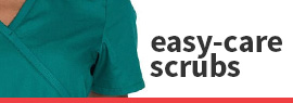 Click to shop our selection of pediatric easy-care scrubs