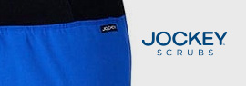 Shop Jockey Scrubs by White Swan,  comfortable scrub offered in various fits