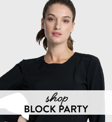 Shop our collection of black and white color block scrubs