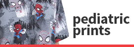 Click to shop our selection of pediatric print scrubs