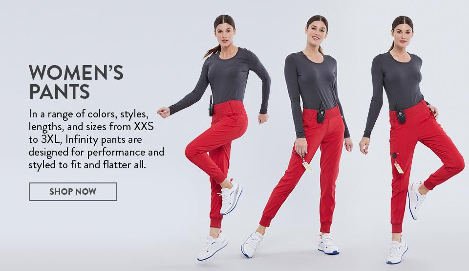 click to shop cherokee infinity women's pants