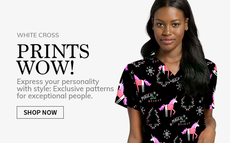 click to shop white cross print tops. Wow!