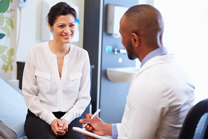 female patient and doctor having consultation
