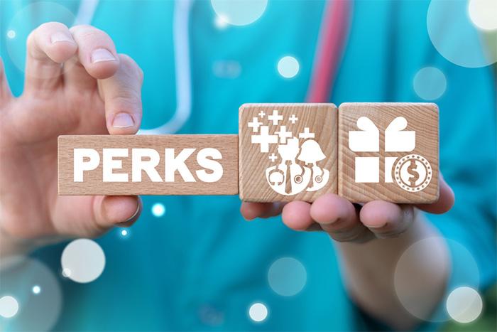 employee perks concept for nurses