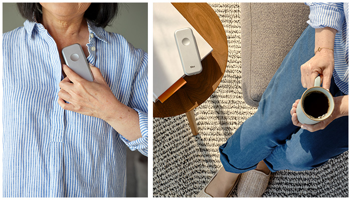 patient self-monitoring with eko duo stethoscope at home