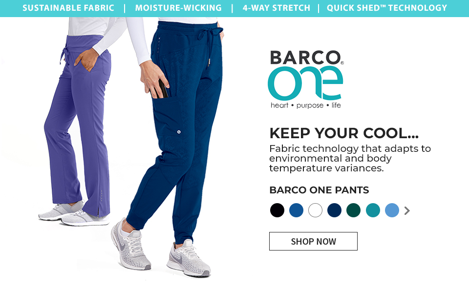 click to shop barco one pants. fabric technology that adapts to environmental and body temperature variances.