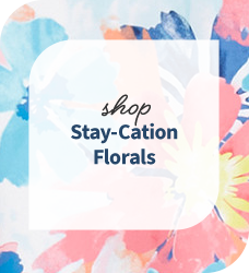 Shop our collection of stay-cation floral scrubs