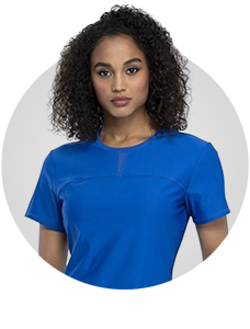 Shop luxury scrubs with contoured seaming