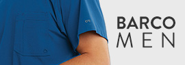 Click here to shop for men's scrubs by Barco