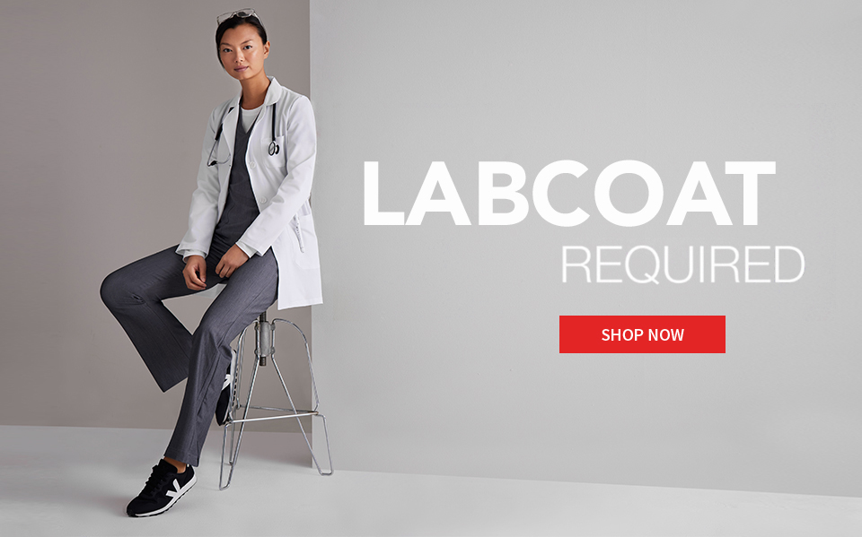 click to shop grey's anatomy lab coats and jackets.