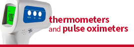 Click here to shop a wide selection of thermometers, pulse oximeters and other measuring devices